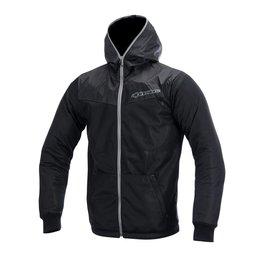 Grey Alpinestars Mens Runner Air Hooded Textile Jacket 2015