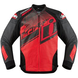 Icon Mens Hypersport Prime Hero Leather Jacket Red
