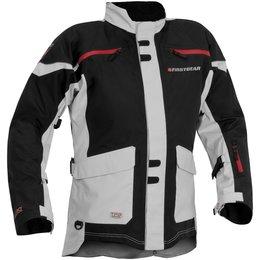 Black, Silver Firstgear Mens Tall Tpg Rainier Textile Jacket 2014 Black Silver