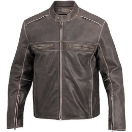 Brown River Road Mens Drifter Leather Jacket 2014 40