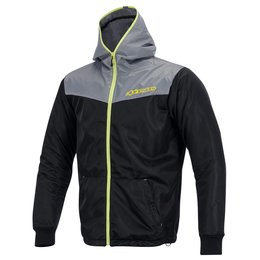Grey, Yellow Alpinestars Mens Runner Air Hooded Textile Jacket 2015 Grey Yellow