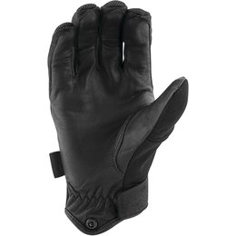 Speed & Strength Mens Last Man Standing Leather Riding Gloves Black