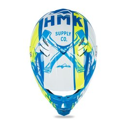 Fly Racing HMK F2 Carbon Pro Cross Snowmobile Helmet Blue