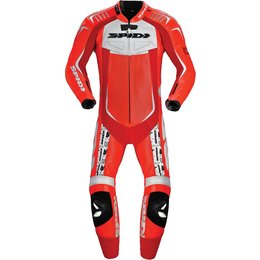 Spidi Sport Mens Track Wind Pro Replica 1 Piece Leather Suit Red