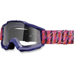 Purple, Pink 100% Accuri Sultan Goggles With Clear Lens 2014 Purple Pink