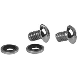 James Gaskets Fork Drain Chrome Button Head Screw Kit For Harley JGI-45790-80-BH