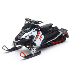 New Ray Toys 1:16 Scale Polaris Switchback Pro-X 800 Snowmobile Toy White 57783A White