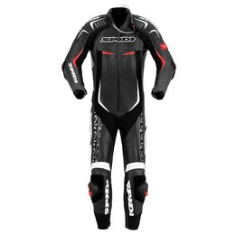 Spidi Sport Mens Track Wind Pro Replica EVO 1 Piece Leather Suit Black