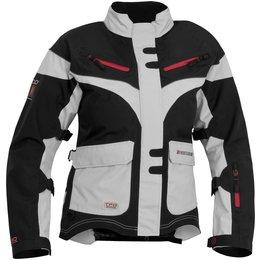 Black, Silver Firstgear Womens Tpg Monarch Textile Jacket 2014 Black Silver