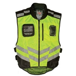 Florescent Yellow Fly Racing Fast-pass Hi Visibility Vest Yellow Xl-xxxl