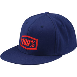 100% Mens Essential Fitted Hat Blue