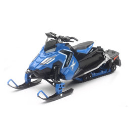 New Ray Toys 1:16 Scale Polaris Switchback Pro-X 800 Snowmobile Toy Blue 57783B Blue