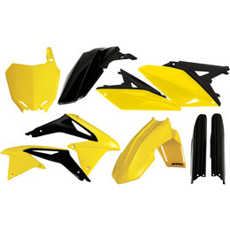 Acerbis Full Plastic Kit For Suzuki RMZ250 2014 Original 2198034584 Yellow
