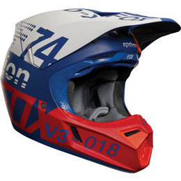 Fox Racing V3 Draftr MX Helmet Blue