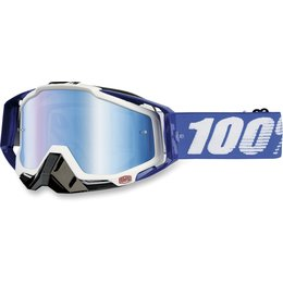 Cobalt Blue 100% Racecraft Goggles With Blue Mirror Lens 2014