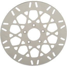 Drag Specialties Mesh Front One-Piece Brake Rotors For Harley Natural 1710-2025