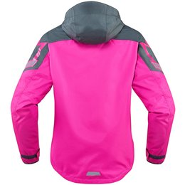 Icon Womens PDX 2 Waterproof Hooded Textile Jacket Pink