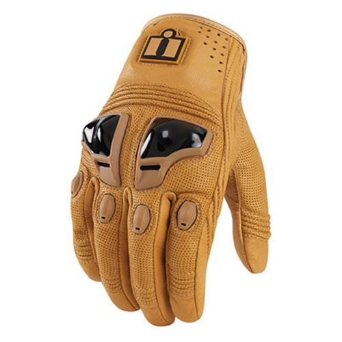 Icon Justice Leather Motorcycle Gloves