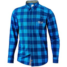 Troy Lee Designs Mens Grind Long Sleeve Polyester Blend Button Up Flannel Blue