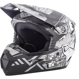 GMAX Youth MX46 Hooper Offroad Helmet Black