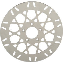 Drag Specialties Mesh Style One-Piece Rear Brake Rotor For Harley 1710-2026 Unpainted