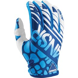 Answer Mens Limited Edition Alpha Textile Motocross MX Riding Gloves Blue