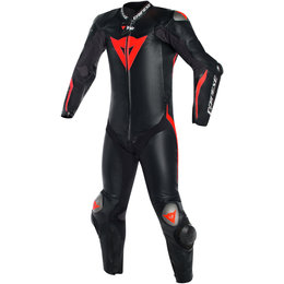 Dainese Mens Mugello R D-Air 1 Piece Armored Leather Suit Black