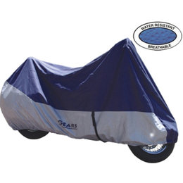 Blue, Grey Gears Canada Premium Motorcycle Cover Extra-large