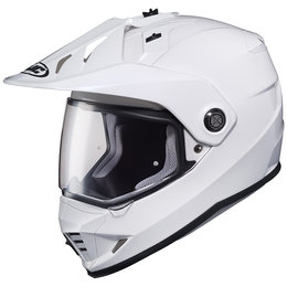 HJC DS-X1 DSX1 Dual Sport Motorcycle Helmet With Removable Visor/Peak White