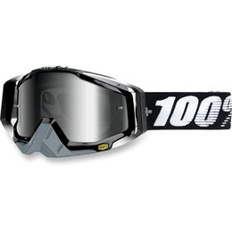 Abyss Black 100% Racecraft Goggles With Silver Mirror Lens 2014