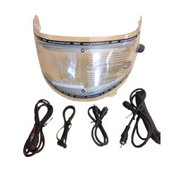 GMax GM64S Electric Heated Snowmobile Helmet Shield With Power Cord Transparent