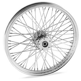Chrome Bikers Choice 60 Spoke Wheel 21x2.15 For Harley Fxst Fxdwg 00-06