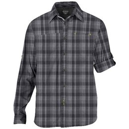 Klim Mens Long Sleeve Button Up Cotton Blend Shirt Black