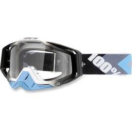 Blue, Gunmetal 100% Racecraft Hyper Goggles With Clear Lens 2014 Blue Gunmetal