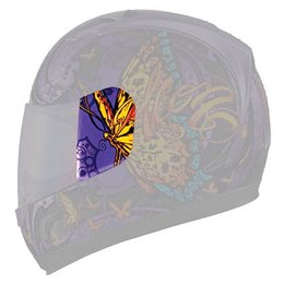 Purple Icon Replacement Sideplates For Alliance Chrysalis Full Face Helmet Pair