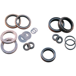 James Gaskets Front Fork Gasket/Seal Kit W/ Felt Washer For Harley JGI-45849-49 Unpainted