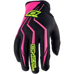 Oneal Womens Element Motocross MX Textile Gloves Pink