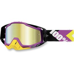 Black, Pink 100% Racecraft Hyper Goggles With Gold Mirror Lens 2014 Black Pink