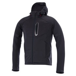 Grey, Red Alpinestars Mens Spark Softshell Hooded Textile Jacket 2015 Grey Red