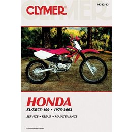 Clymer Repair Manual For Honda XR 75-100 75-03