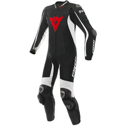 Dainese Mens D-Air Racing Misano 1 Piece Armored Perforated Leather Suit Black