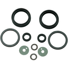 James Gaskets Front Fork Gasket/Seal Kit W/ Metal Washer For Harley 45849-49-A