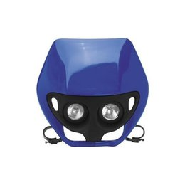 UFO Plastic Dual Lens Twin Headlight Assembly Blue