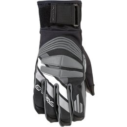 Arctiva Mens Rove Insulated Textile Snowmobile Gloves Black