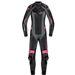 Spidi Sport Womens Mantis Wind Pro 1 Piece Leather Suit Black