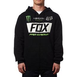 Fox Racing Mens Monster Paddock Zip Hoody Black