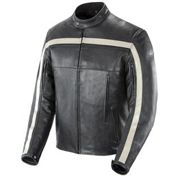 Black, Ivory Joe Rocket Mens Old School Leather Jacket 2014 Black Ivory