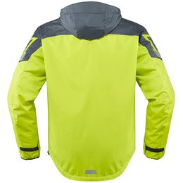 Icon Mens PDX 2 Waterproof Hooded Textile Jacket Yellow