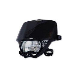 UFO Plastic Cruiser Headlight Black Universal