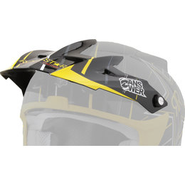 Rockstar V Answer Replacement Visor For Comet Helmet Black Yellow
